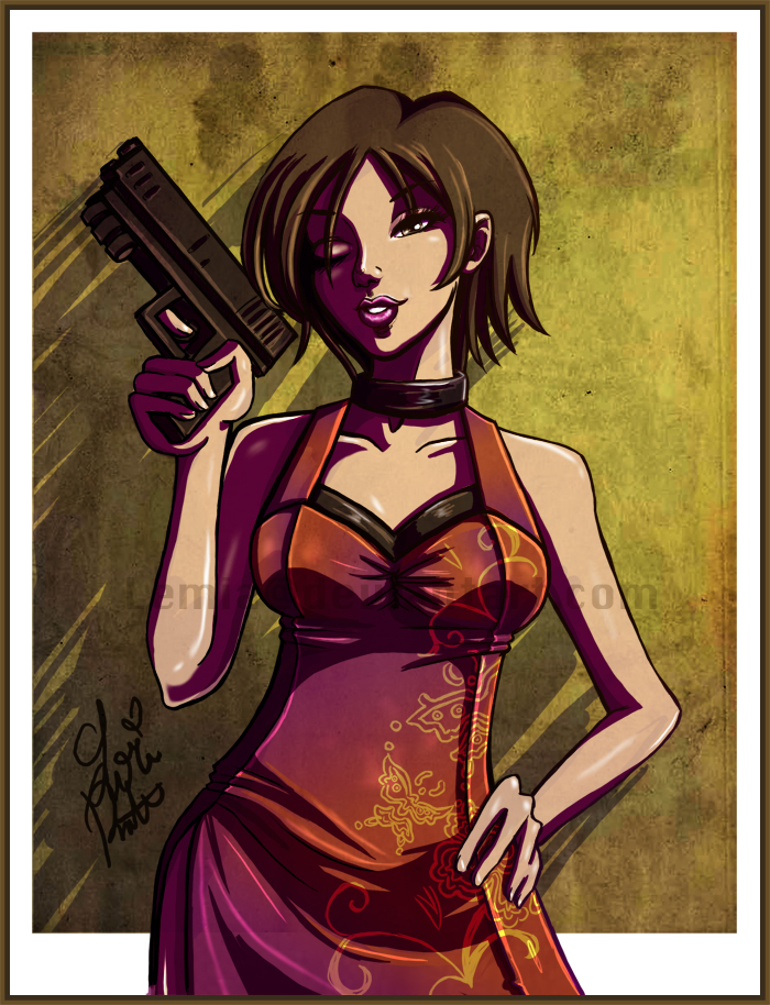 ada wong coloring pages - photo#25