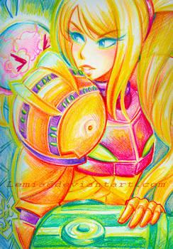 Crayon Samus Aran