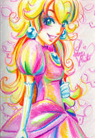 Crayola Crayon Princess Peach by LemiaCrescent