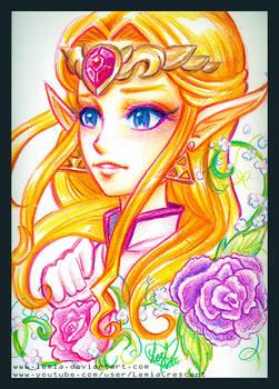 Crayola Crayon Ocarina of Time Princess Zelda