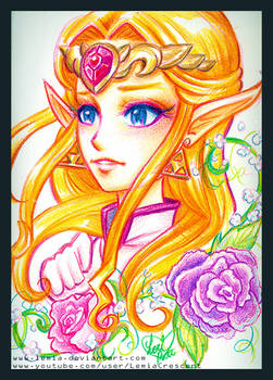 Crayola Crayon Ocarina of Time Princess Zelda