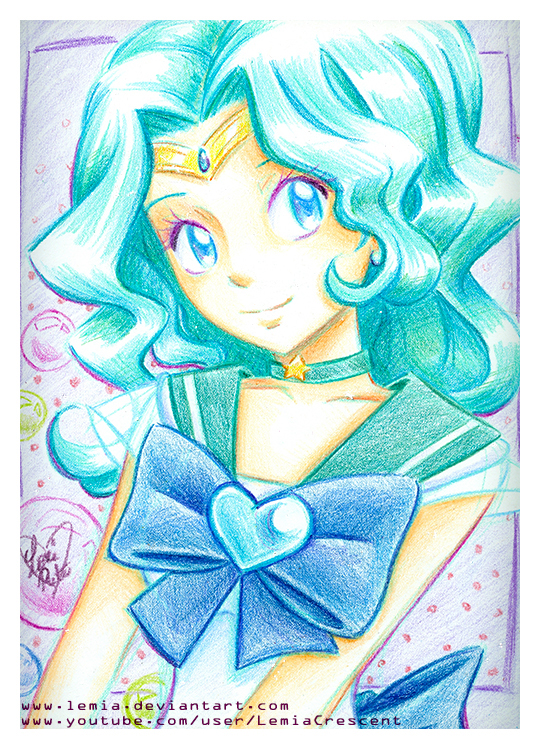 Crayola Crayon Sailor Neptune by LemiaCrescent