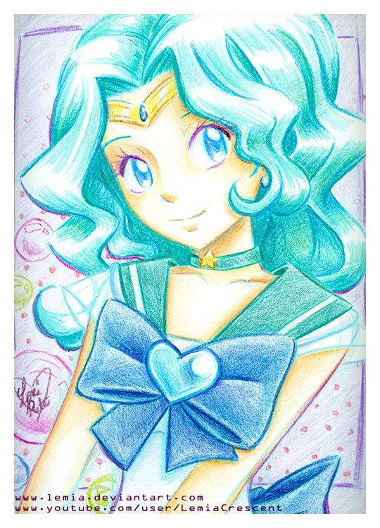Crayola Crayon Sailor Neptune by LemiaCrescent