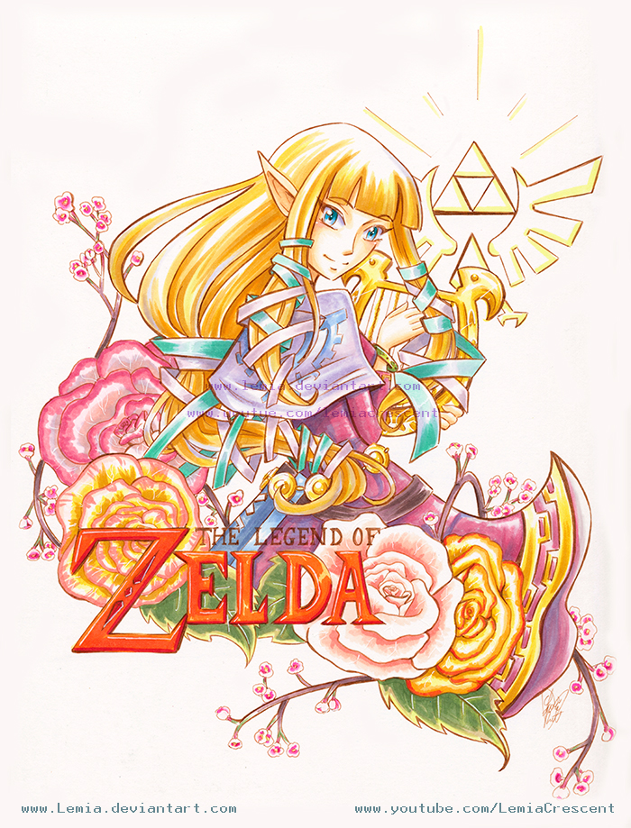 Copic Marker Skyward Sword Zelda by Lemia