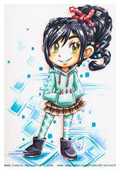 Copic Marker Vanellope Von Schweetz by LemiaCrescent