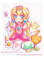 Peach Doodle by LemiaCrescent