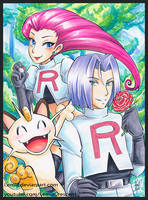 Copic Marker Team Rocket from Pokemon by LemiaCrescent