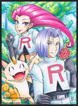 Copic Marker Team Rocket from Pokemon