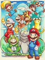 Copic Super Mario Power-Ups by LemiaCrescent