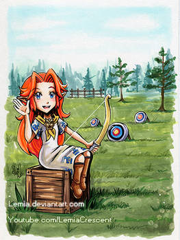 TLOZ Majora's Mask Romani and her Target Practice