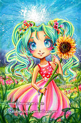 Copic Marker Sunflower Wynn by LemiaCrescent