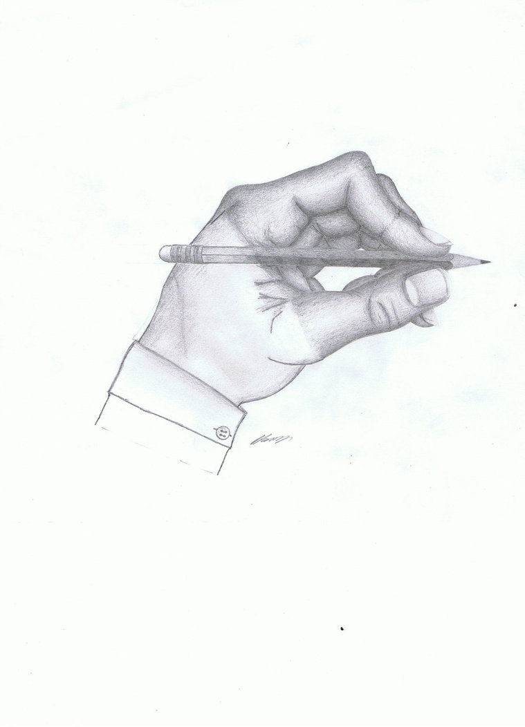 Drawing Hand by PeteDomoney
