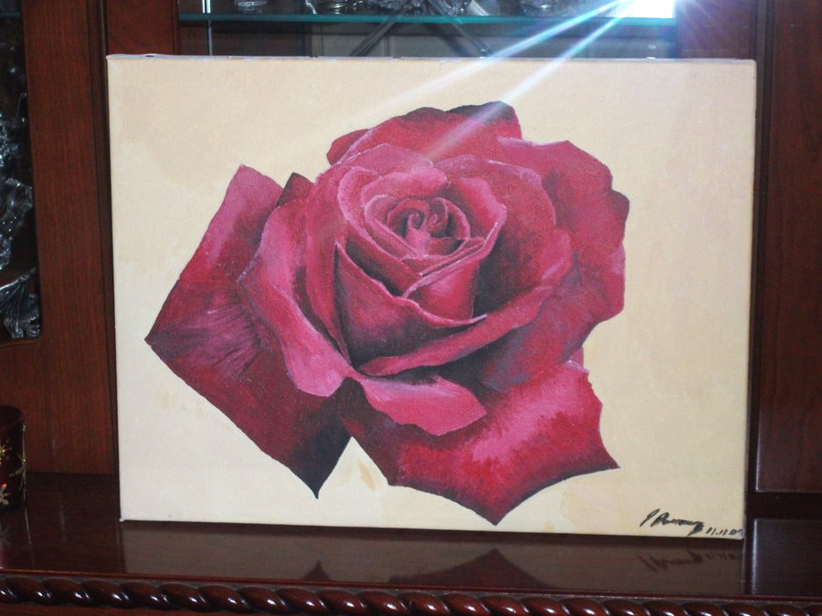 Rose Painting by PeteDomoney