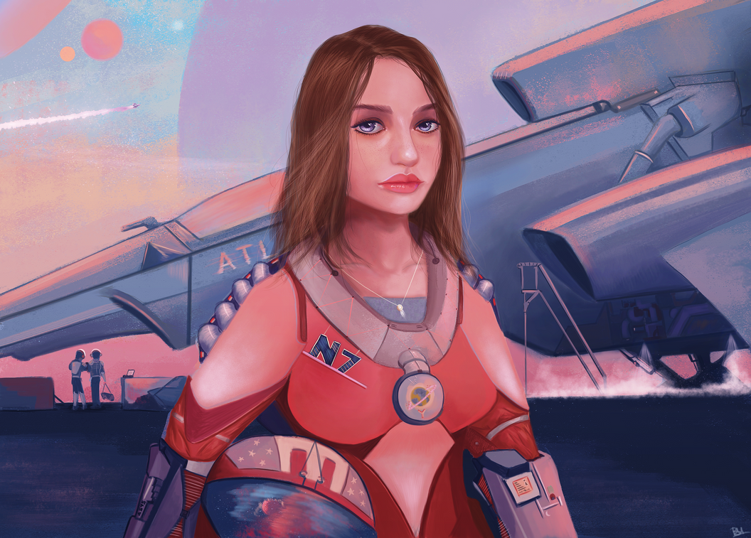 [Sci-Fi] GIRL SPACESHIP DRIVER by Saliov