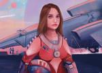 [Sci-Fi] GIRL SPACESHIP DRIVER