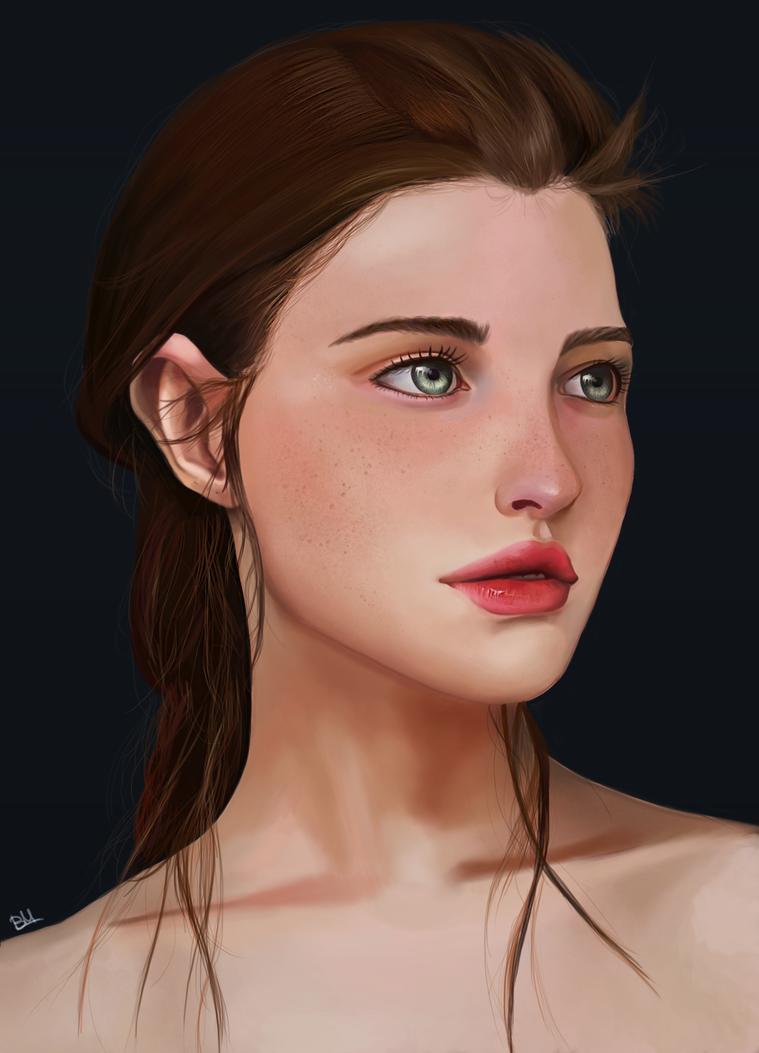 Portrait study by Saliov