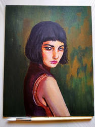 Acrylic portrait by Saliov