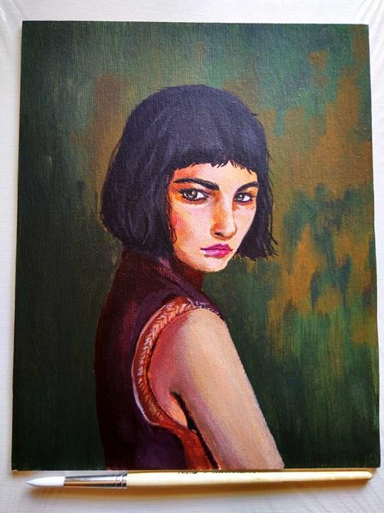 Acrylic portrait by Saliov