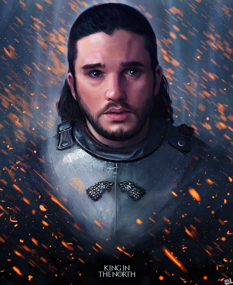 Jon Snow - King in the North by Saliov