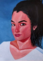 Acrylic portrait #2 by Saliov