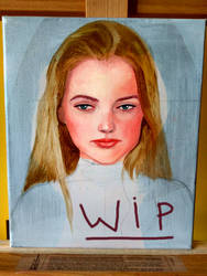 Oil portrait WIP by Saliov