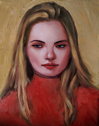 Oil portrait #2 by Saliov