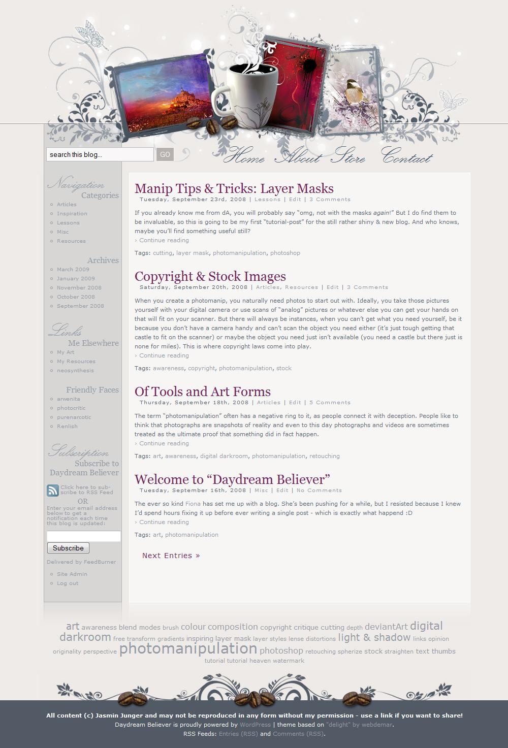 Daydream Believer - webdesign by kuschelirmel
