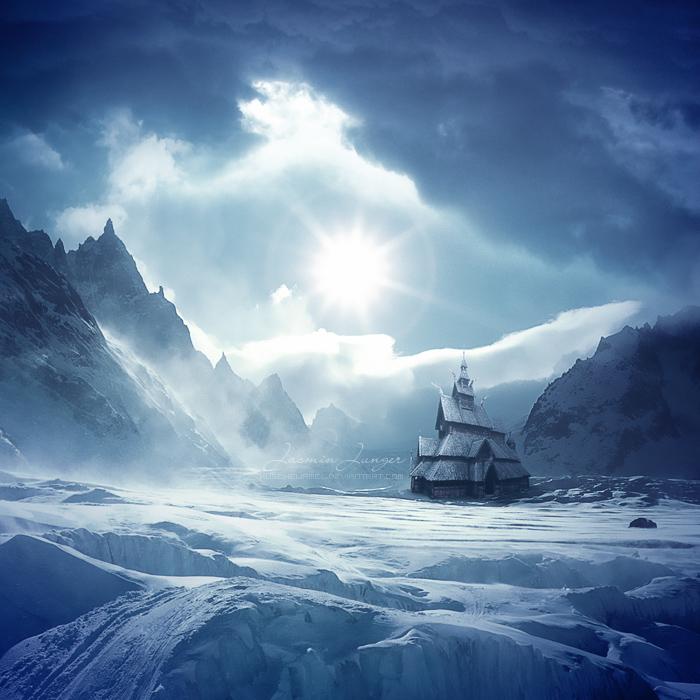 冰冻峡谷的峡谷