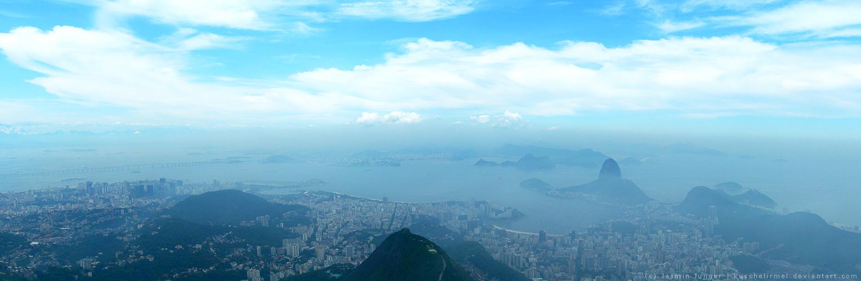 Rio de Janeiro Panoramic View by kuschelirmel