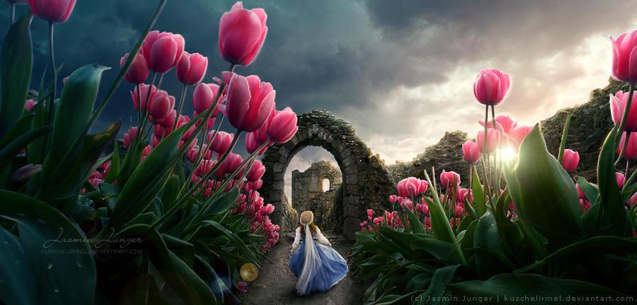 Beneath the Tulips by kuschelirmel