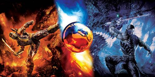 Mortal Kombat Adesivo - Template Arcade Controller by jldesigner7