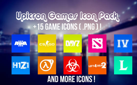 Games Icon Pack (+15 Icons with PNG !)
