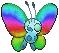 Butterfree Rainbow by pokefansisboeseplz