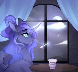 Redraw - Princess luna ~ by VelirenRey