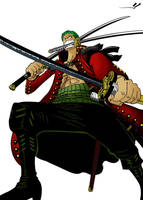 Ronoroa Zoro colored by YveS11