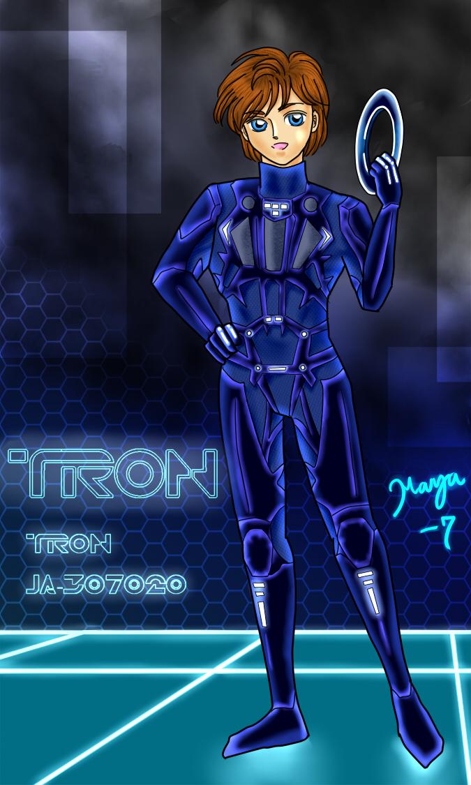 A Portrait - TRON by maya-7