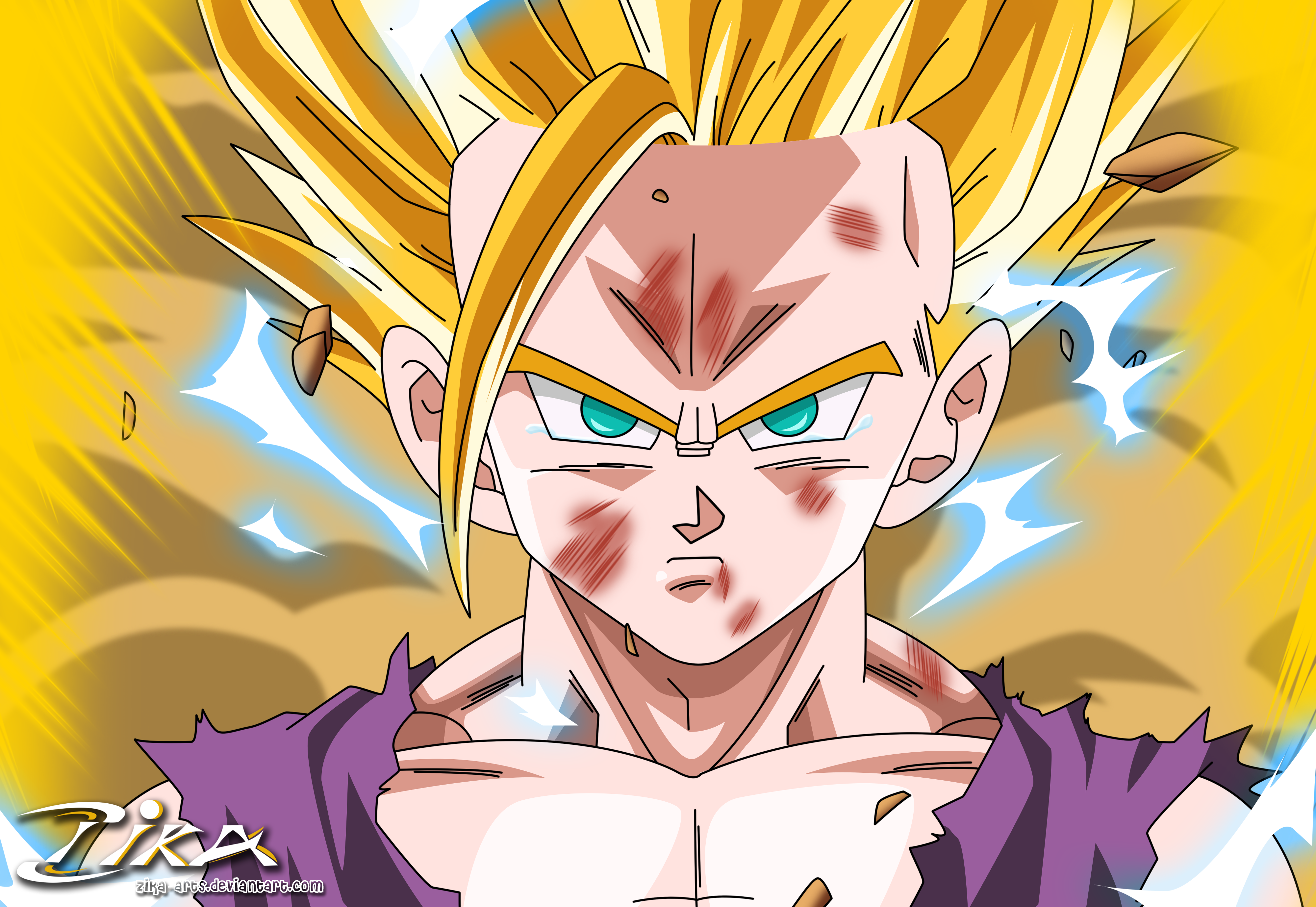 Gohan Turns Ssj2 For The First Time By Zika-arts On DeviantArt