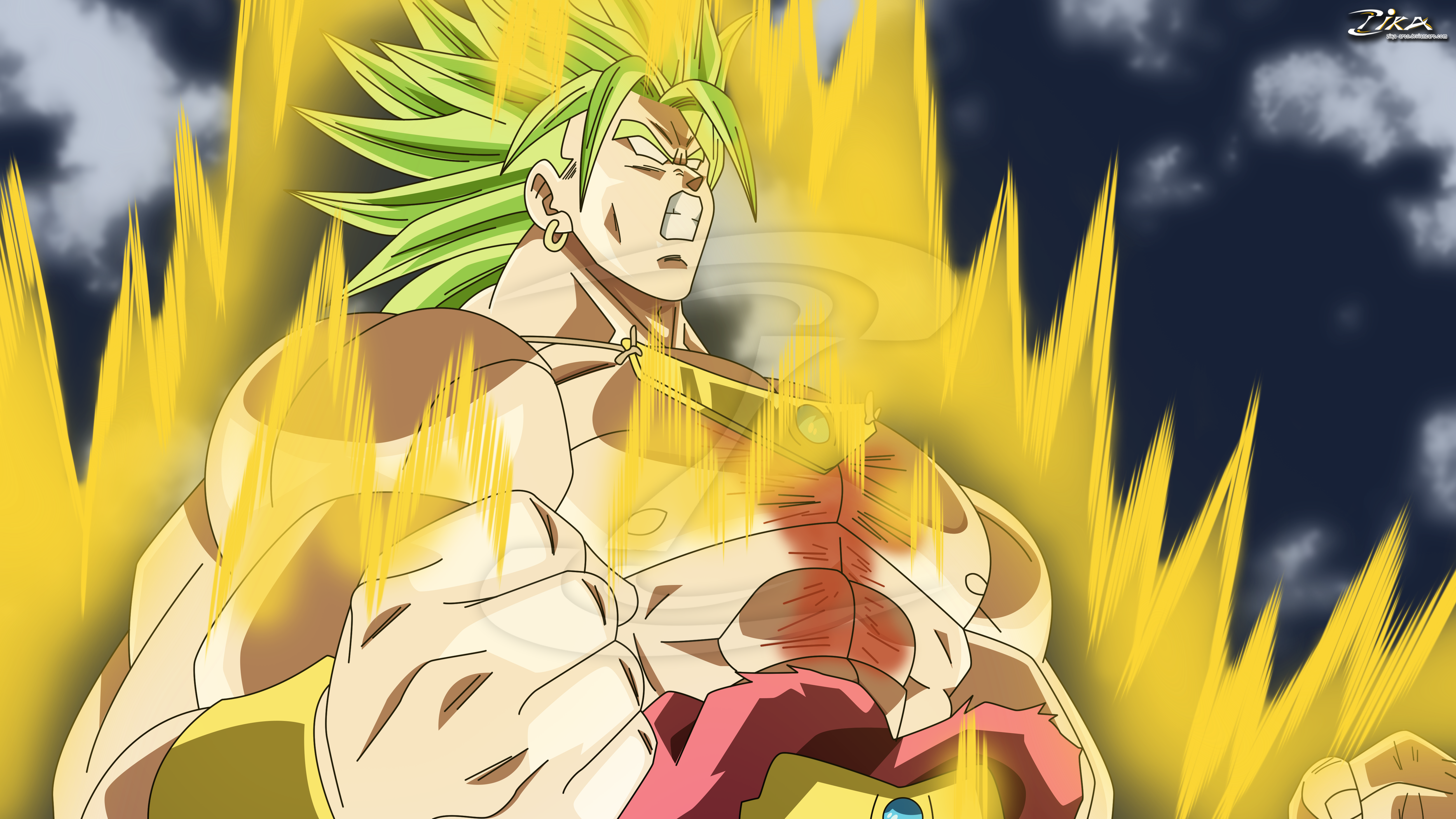 Broly the Legendary Super saiyan by zika-arts on DeviantArt