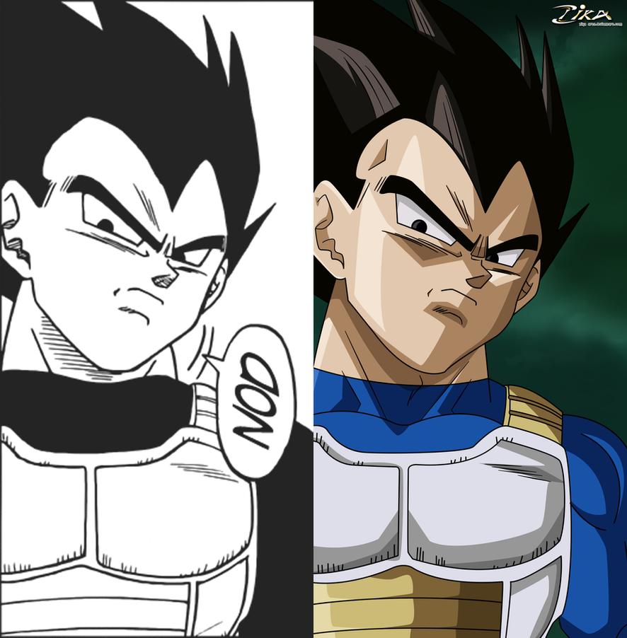 Vegeta unimpressed comparison by zika-arts on DeviantArt