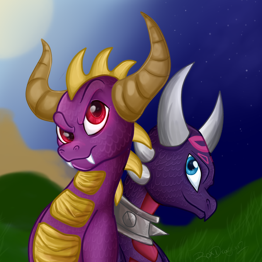 Skylanders-Spyro and Cynder by ROXDragonz on DeviantArt