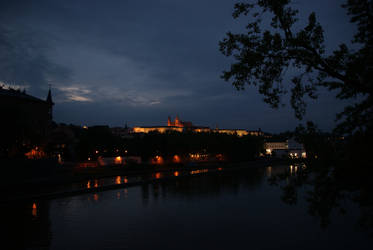 Prazsky Hrad at night II by Squirry