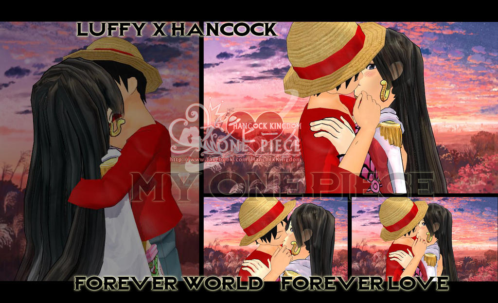 Luffy kiss hancock by kaset218 on deviantart - One piece luffy x hancock ...