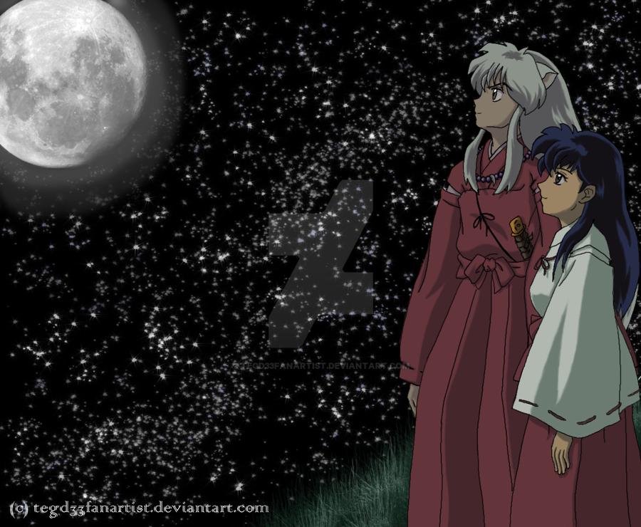 Inuyasha and Kagome 3 by tegd33fanartist