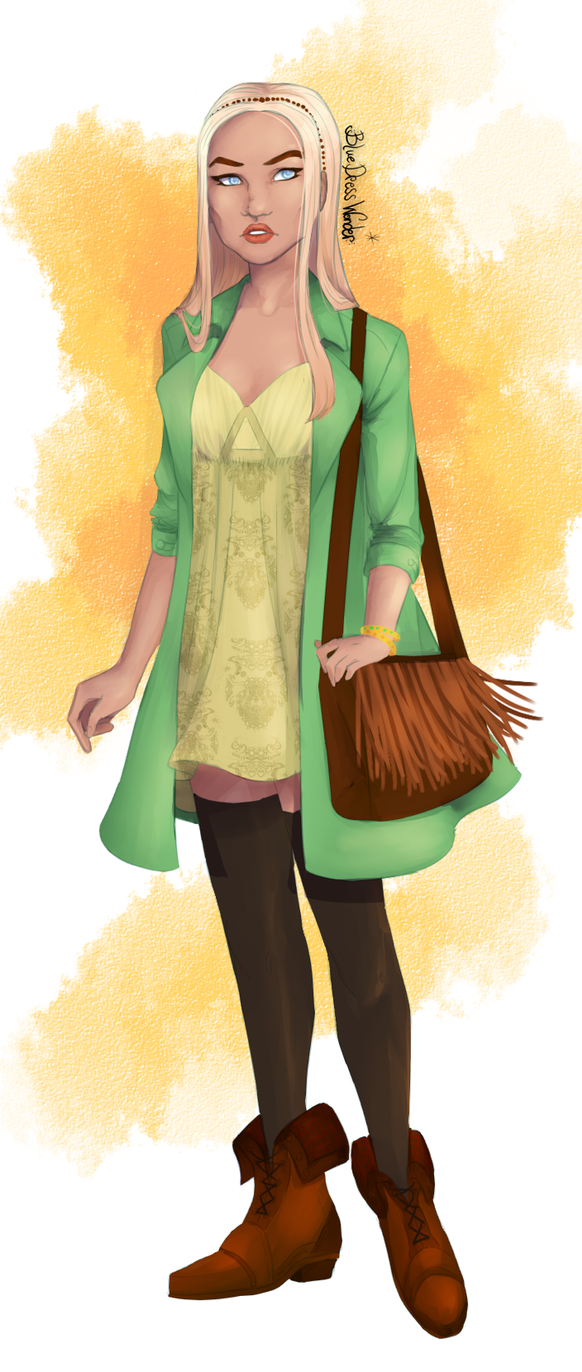 Green Coat by BlueDressWonder