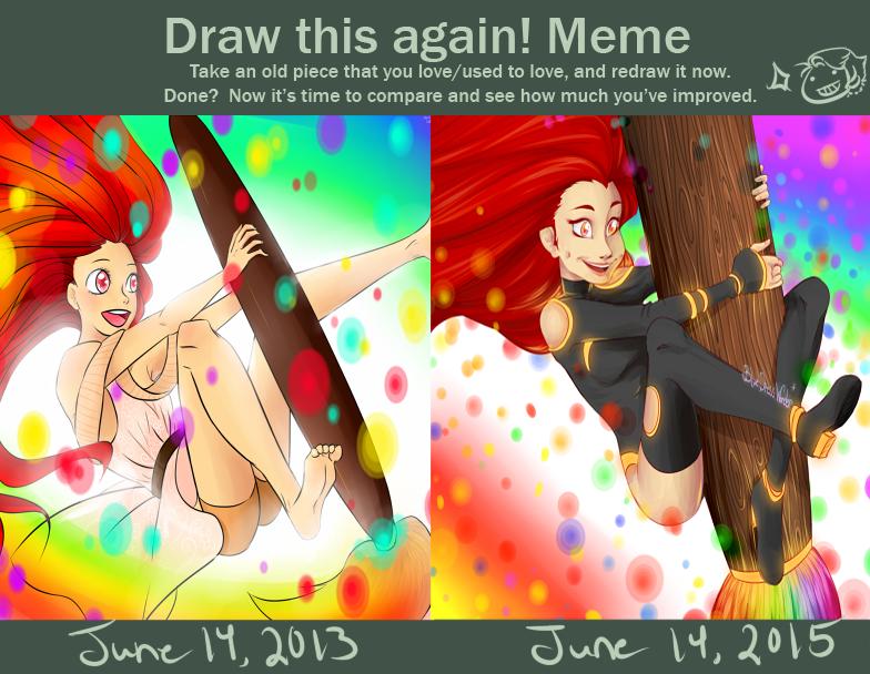 Draw This Again! Meme- Paintbrush Magic by BlueDressWonder