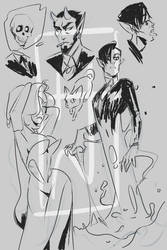 DMM Ink Sketches by NikkTheHuman