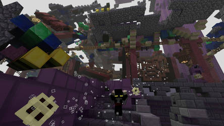 Minecraft collapse scene  by HPFeathersen