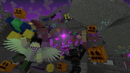Minecraft Haloween Render by HPFeathersen