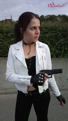 Claire Redfield RE DC Biker cosplay X by Rejiclad