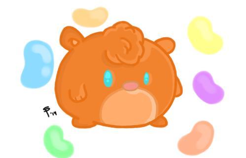 Jellybean Hamster by SlugSlimes